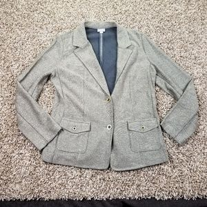 J. Jill Medium Blazer Button Long Sleeve Career No